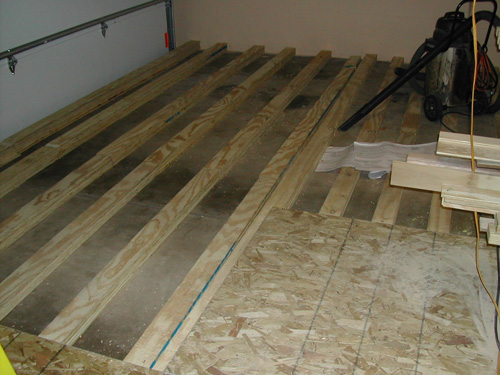 Wood Subfloor Over Concrete Slab