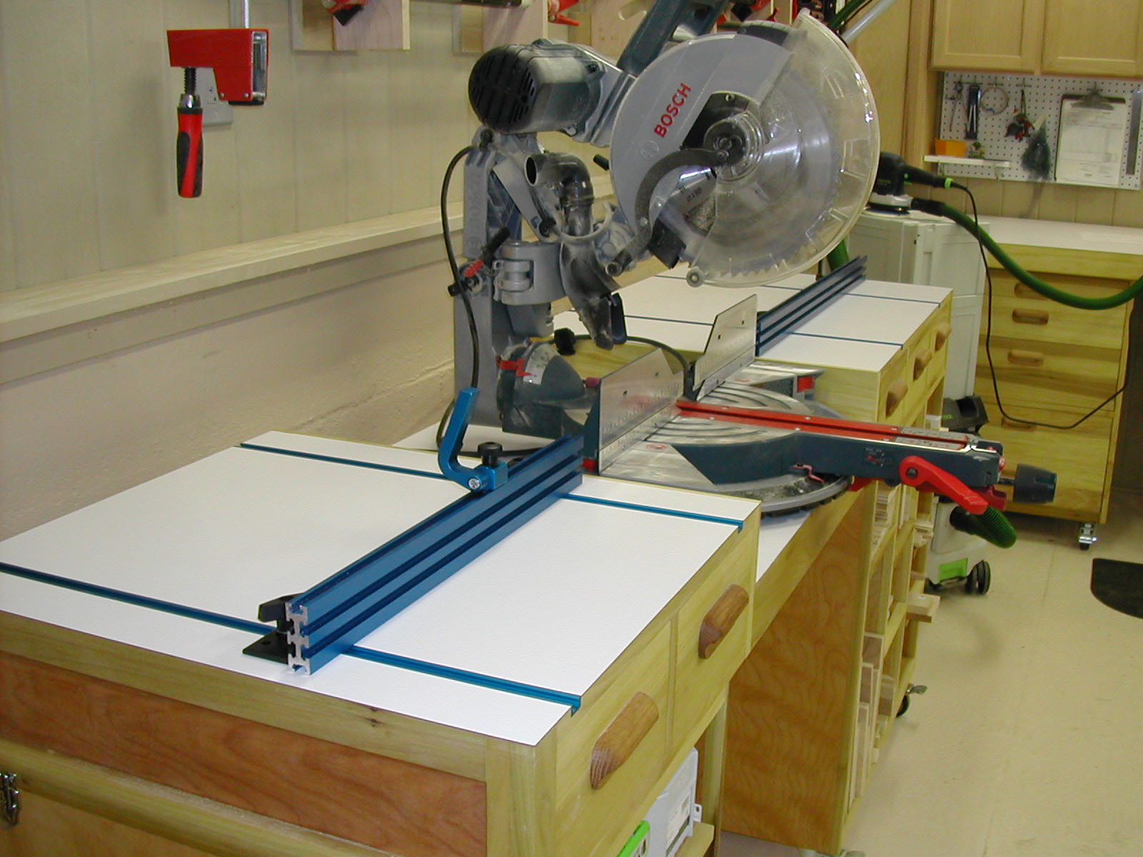 Building The Base Units On A Miter Saw Work Station